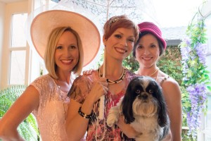 (pictured from left to right): Joy Sherratt* (as Lottie), Rachel Powers (as Caroline), Amy Franklin Leonards (as Rose) - and Bijou the dog